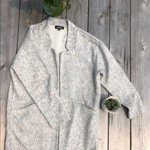 EXPRESS | Gray Collarless Coat | Sz M
